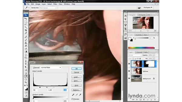 Blurring the layer mask: Photoshop CS3 One-on-One: Beyond the Basics