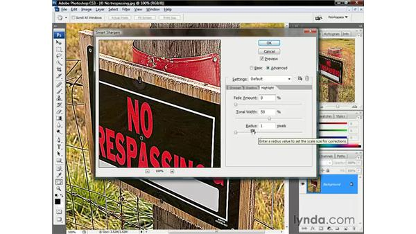 The Advanced options: Photoshop CS3 One-on-One: Beyond the Basics