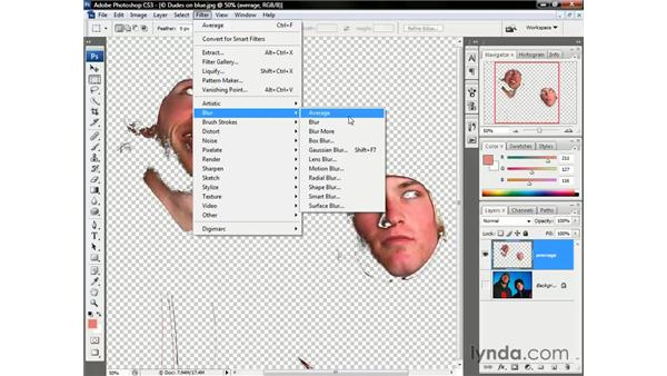 Averaging skin tones: Photoshop CS3 One-on-One: Beyond the Basics