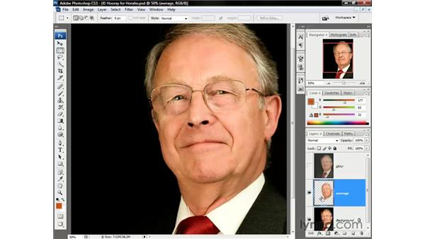 Combining Gaussian Blur and Average: Photoshop CS3 One-on-One: Beyond the Basics