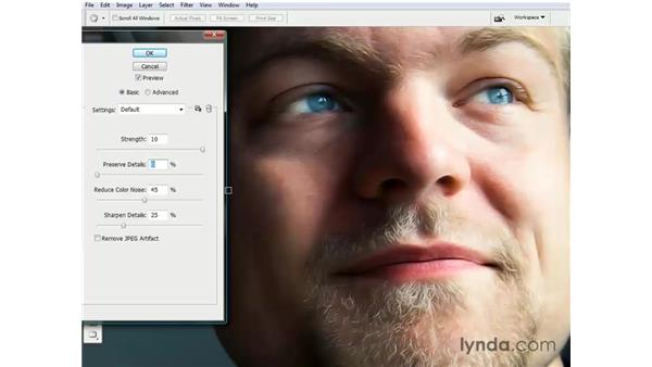 Reducing digital noise: Photoshop CS3 One-on-One: Beyond the Basics