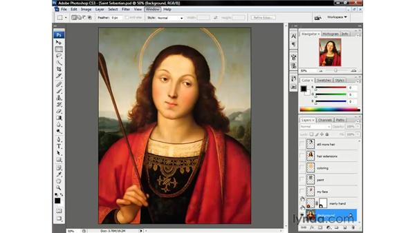 The Layers palette: Photoshop CS3 One-on-One: Beyond the Basics
