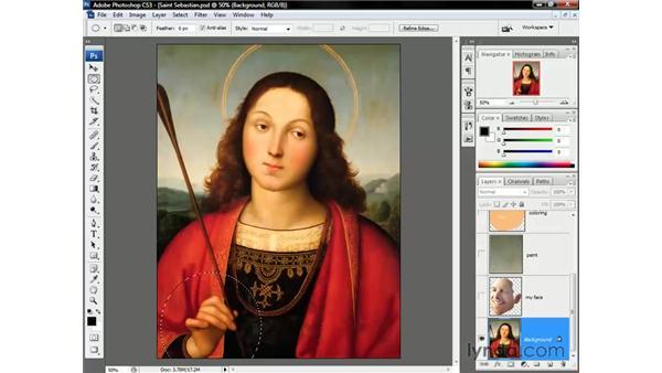 Enlarging the hand: Photoshop CS3 One-on-One: Beyond the Basics