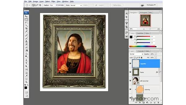 Adding a vignette: Photoshop CS3 One-on-One: Beyond the Basics