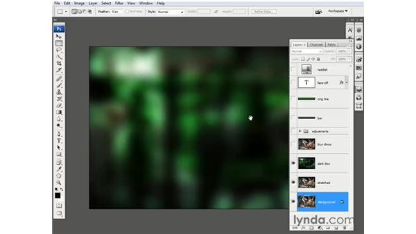 Assembling the base composition: Photoshop CS3 One-on-One: Beyond the Basics
