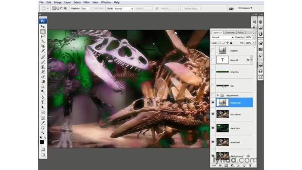Adding adjustment layers: Photoshop CS3 One-on-One: Beyond the Basics