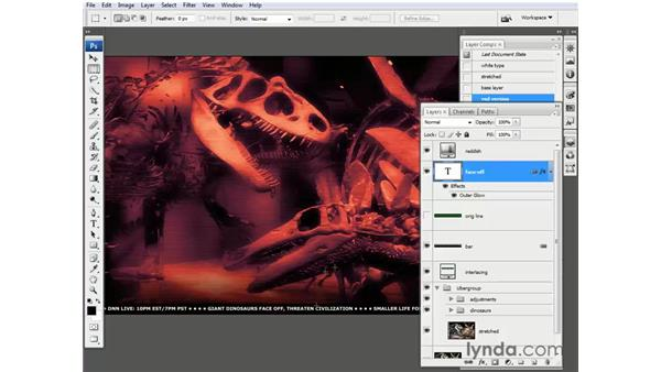 Saving your own layer comps: Photoshop CS3 One-on-One: Beyond the Basics