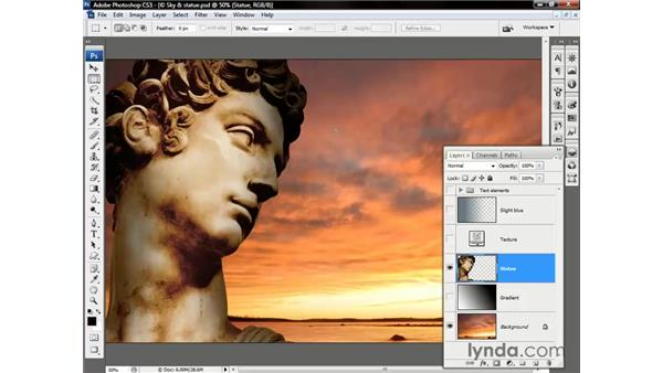 Changing the Opacity value: Photoshop CS3 One-on-One: Beyond the Basics