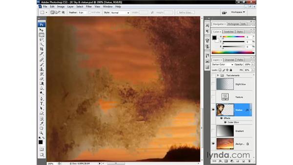 The darkening modes: Photoshop CS3 One-on-One: Beyond the Basics