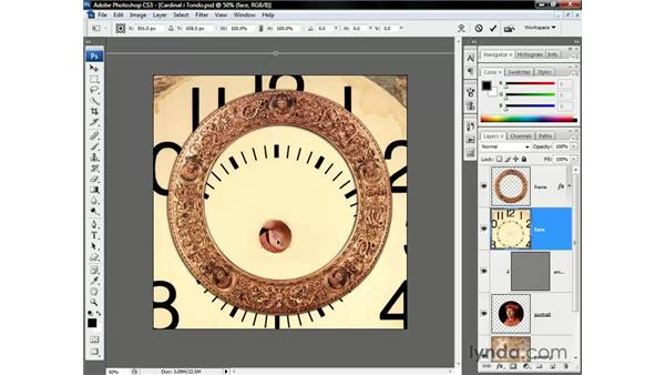 Scaling a layer to fit a composition: Photoshop CS3 One-on-One: Beyond the Basics