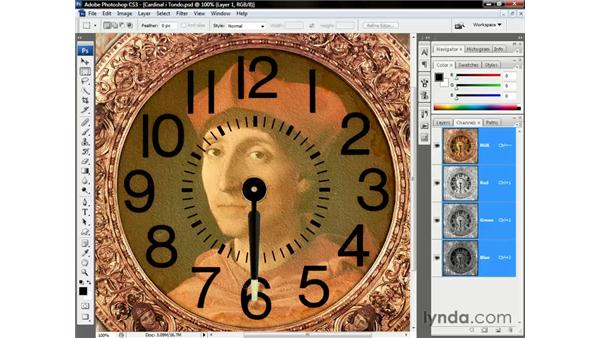 Rotating the minute hand: Photoshop CS3 One-on-One: Beyond the Basics