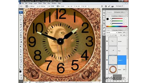 Second hand and shadows: Photoshop CS3 One-on-One: Beyond the Basics