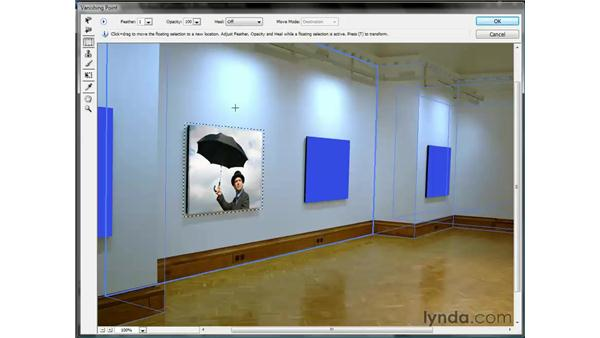 Cloning an image from one plane to another: Photoshop CS3 One-on-One: Beyond the Basics