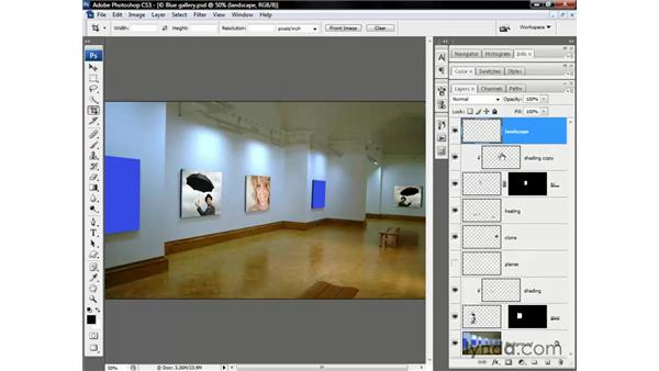 Flat in, perspective out: Photoshop CS3 One-on-One: Beyond the Basics