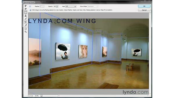 Adding perspective type: Photoshop CS3 One-on-One: Beyond the Basics