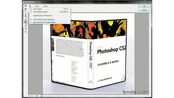 Wrapping art around multiple surfaces: Photoshop CS3 One-on-One: Beyond the Basics