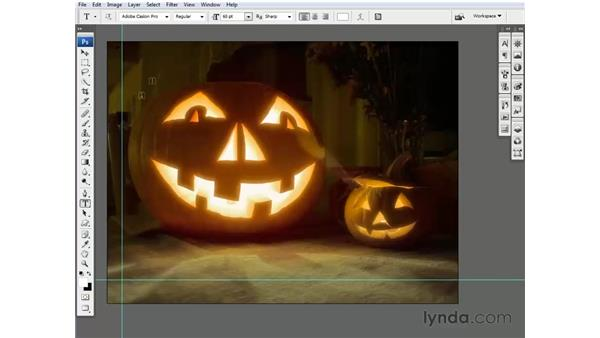 Creating an independent text layer: Photoshop CS3 One-on-One: Beyond the Basics