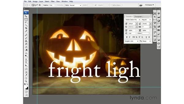 Editing vector-based text: Photoshop CS3 One-on-One: Beyond the Basics