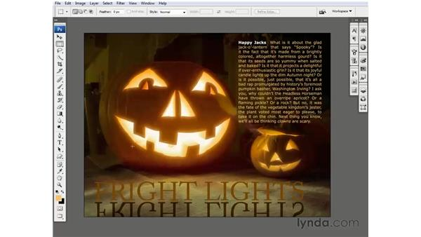 Adding a ghostly cast shadow: Photoshop CS3 One-on-One: Beyond the Basics