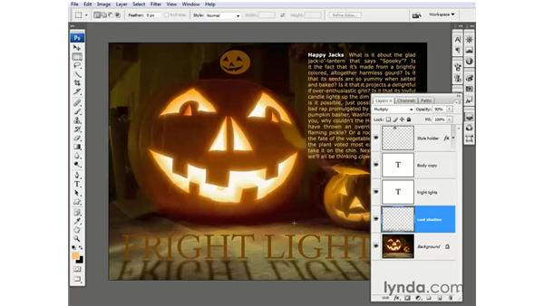 Backlighting the text: Photoshop CS3 One-on-One: Beyond the Basics