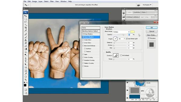 Adding a directional glow: Photoshop CS3 One-on-One: Advanced Techniques