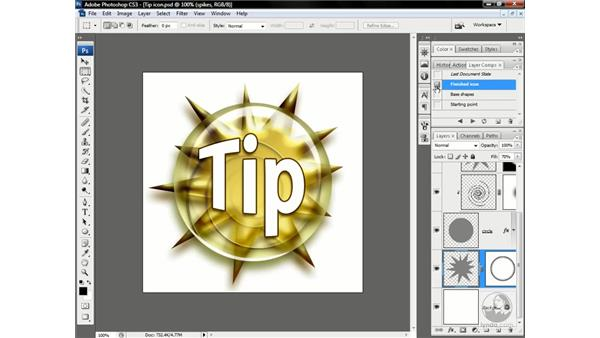 Layer styles as artistic media: Photoshop CS3 One-on-One: Advanced Techniques