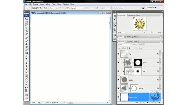 Upsampling pixels vs. scaling vectors: Photoshop CS3 One-on-One: Advanced Techniques