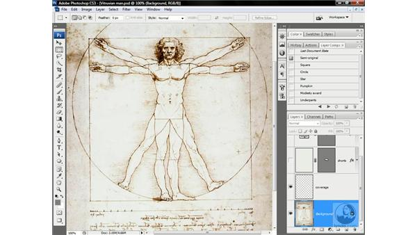 Vitruvian Man, king of the vectors: Photoshop CS3 One-on-One: Advanced Techniques