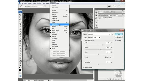 Creating an adjustment layer: Photoshop CS3 One-on-One: Advanced Techniques