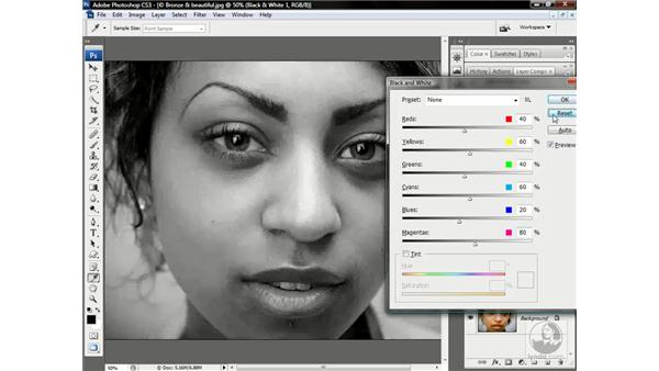 The new Black & White command: Photoshop CS3 One-on-One: Advanced Techniques