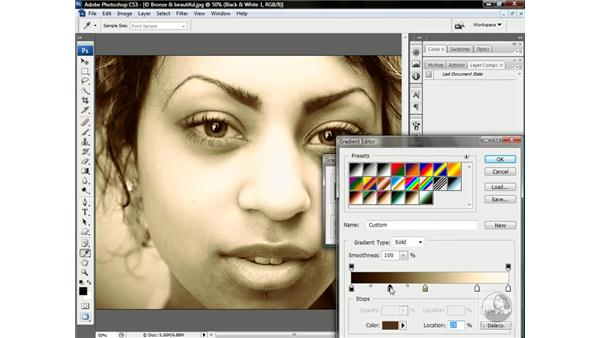 Making a true duotone with Gradient Map: Photoshop CS3 One-on-One: Advanced Techniques
