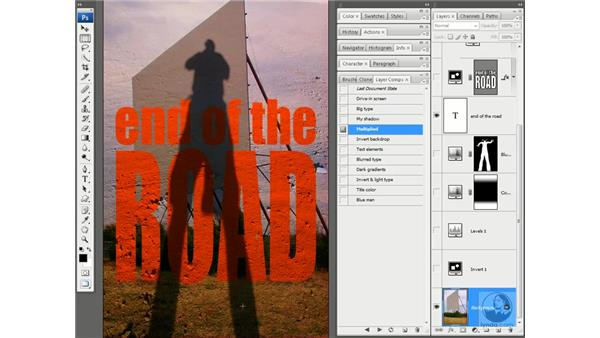 Adjustment layers as creative tools: Photoshop CS3 One-on-One: Advanced Techniques
