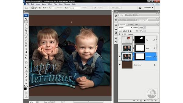 The holiday composition: Photoshop CS3 One-on-One: Advanced Techniques