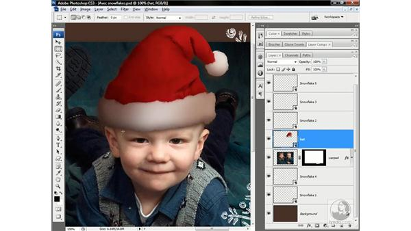 Converting a layer to a Smart Object: Photoshop CS3 One-on-One: Advanced Techniques