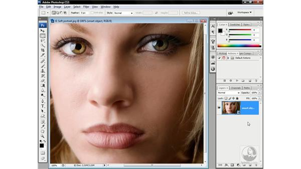 Applying a smart filter: Photoshop CS3 One-on-One: Advanced Techniques