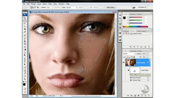 Masking smart filters: Photoshop CS3 One-on-One: Advanced Techniques