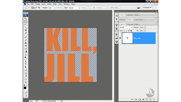 Applying a smart filter to live type: Photoshop CS3 One-on-One: Advanced Techniques