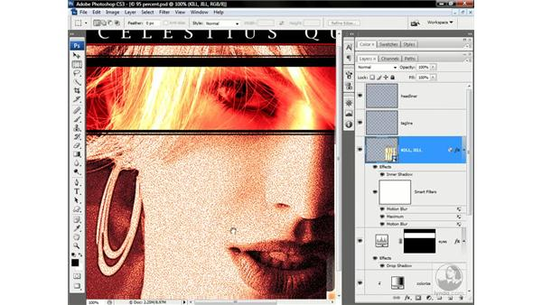 Enhancing a filter with a layer effect: Photoshop CS3 One-on-One: Advanced Techniques