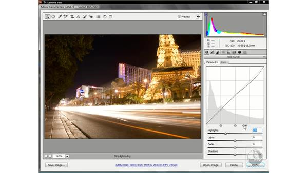 The new Tone Curve adjustment sliders: Photoshop CS3 One-on-One: Advanced Techniques