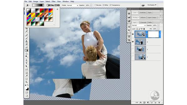 Masking the couples together: Photoshop CS3 One-on-One: Advanced Techniques