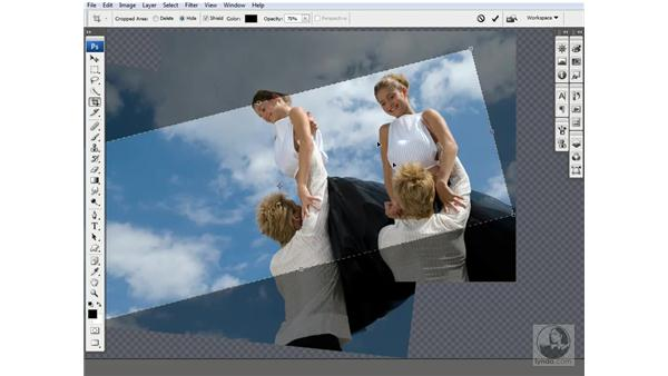 Cropping the composition: Photoshop CS3 One-on-One: Advanced Techniques