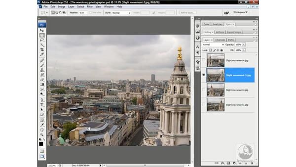 What to do when Auto-Align fails: Photoshop CS3 One-on-One: Advanced Techniques