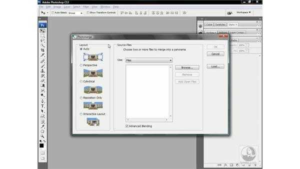 The new Photomerge command: Photoshop CS3 One-on-One: Advanced Techniques