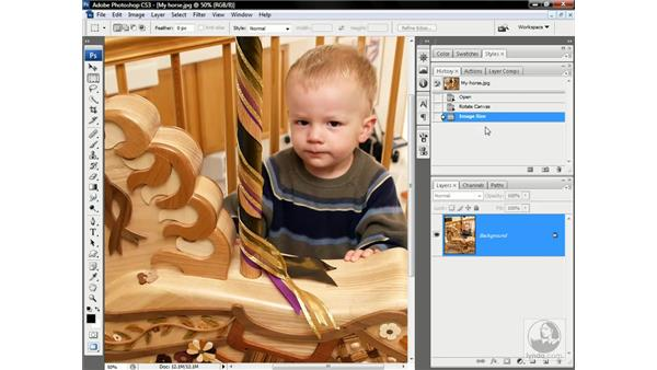 Playing an action: Photoshop CS3 One-on-One: Advanced Techniques