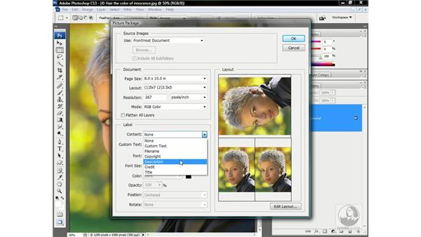 Packaging multiple pictures on a page: Photoshop CS3 One-on-One: Advanced Techniques