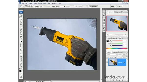 The Marquee and Lasso tools: Photoshop CS3 One-on-One: The Essentials