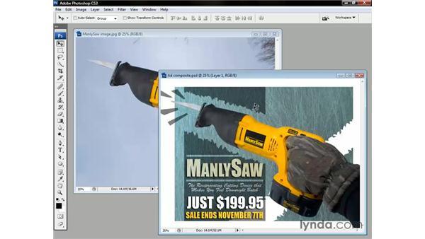 Using the Move tool: Photoshop CS3 One-on-One: The Essentials