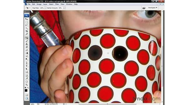 Using the Red-Eye tool: Photoshop CS3 One-on-One: The Essentials