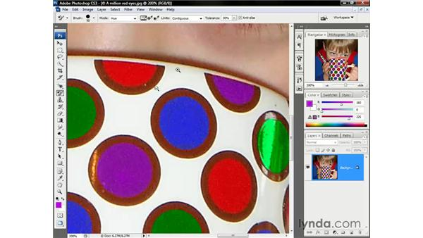 Replacing colors with lighter shades: Photoshop CS3 One-on-One: The Essentials
