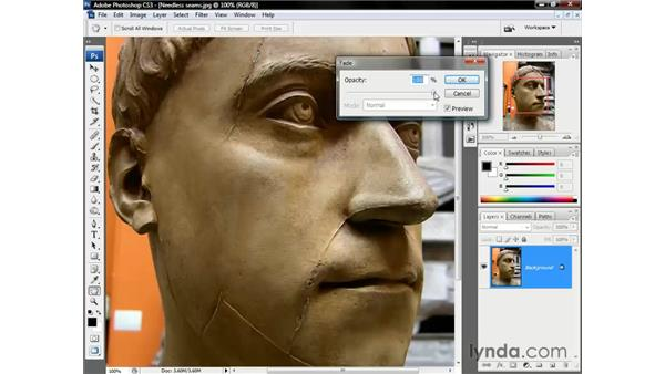 Fading a brushstroke: Photoshop CS3 One-on-One: The Essentials